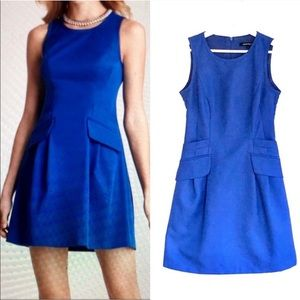 Nanette Lepore Oahu Blue Valley Girl Pocket Dress
